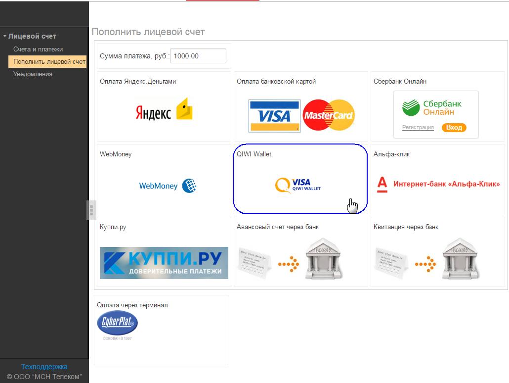 Choose - QIWI Wallet